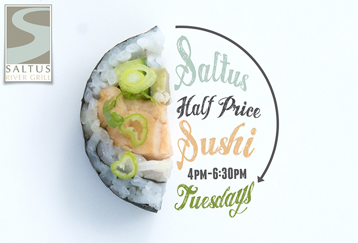 Saltus Half Price Sushi Tuesdays | Beaufort Restaurants | photo and artwork by The Lills Design